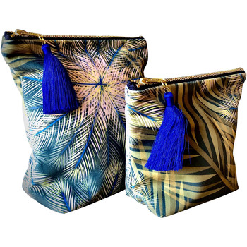 Rebecca J Mills Designs Breeze pouch wash bag medium women's Washbag in Blue. Sizes available:One size