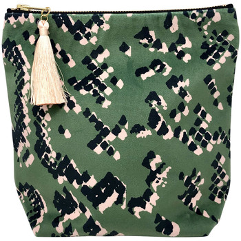 Rebecca J Mills Designs Scaled 1 pouch wash bag medium women's Washbag in Green. Sizes available:One size