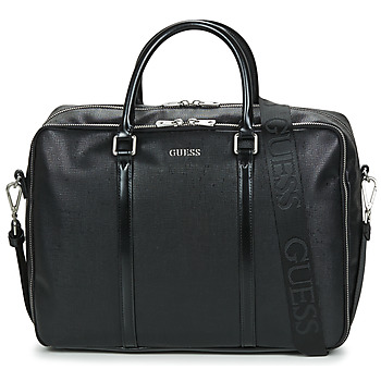 Guess EVENING WORK BAG men's Briefcase in Black. Sizes available:One size