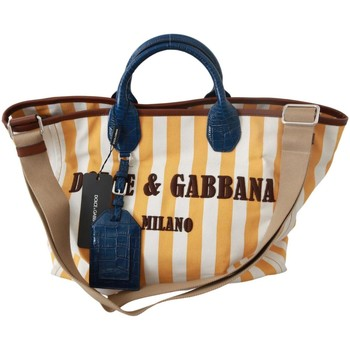 D G Yellow Stripes women's Shopper bag in multicolour. Sizes available:One size