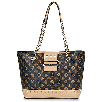 Guess GRETA TOTE women's Shopper bag in Brown. Sizes available:One size