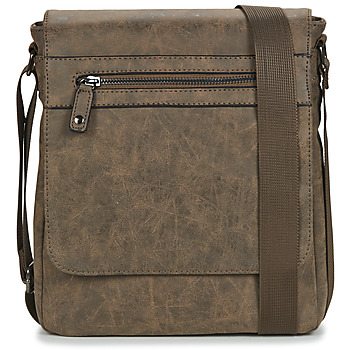Casual Attitude OLIMPE men's Messenger bag in Brown. Sizes available:One size