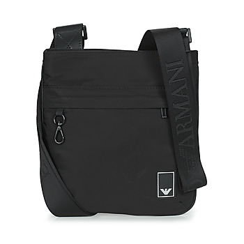 Emporio Armani SMALL FLAT MESS. TRAVEL ESSENT - MESSENGER BAG men's Pouch in Black. Sizes available:One size