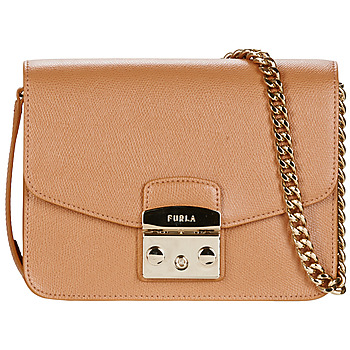 Furla METROPOLIS S CROSSBODY women's Shoulder Bag in Brown. Sizes available:One size