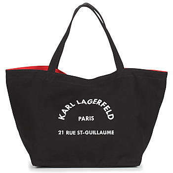 Karl Lagerfeld RUE ST GUILLAUE CANVAS TOTE women's Shopper bag in Black. Sizes available:One size